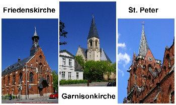 Drei Kirchen an der Peterstraße (Fotos: Helmuth Meinken)